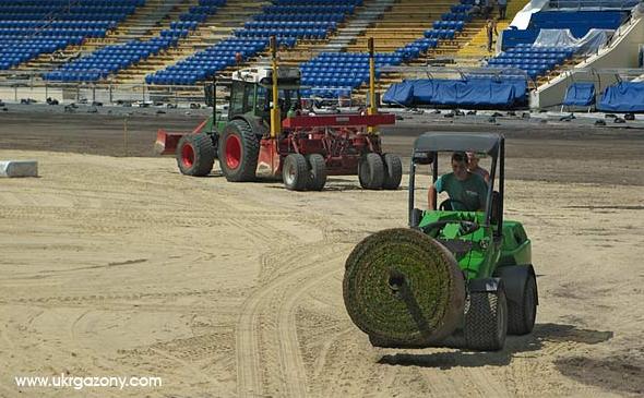 Обустройство стадионов, реконструкция футбольных полей. Гольф-поля и другие спортивные сооружения